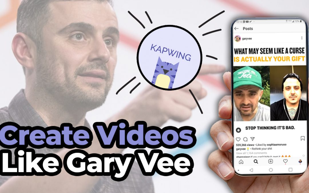 Create Gary Vee Style Videos For Social Media // What To Do and HOW to Do It!