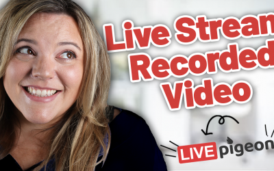 How To Live Stream Recorded Video SUPER EASY!!