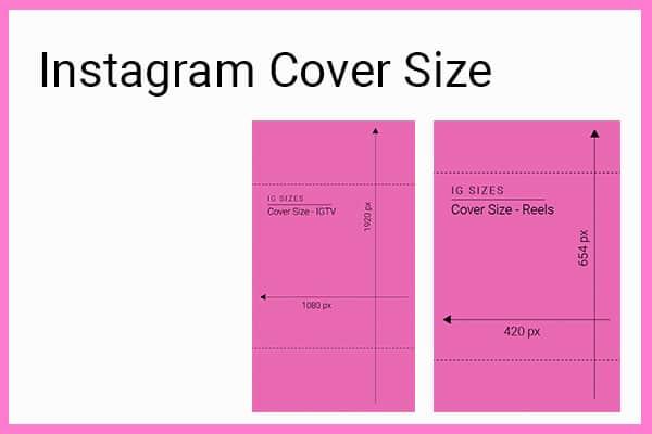 Instagram cover sizes 2021